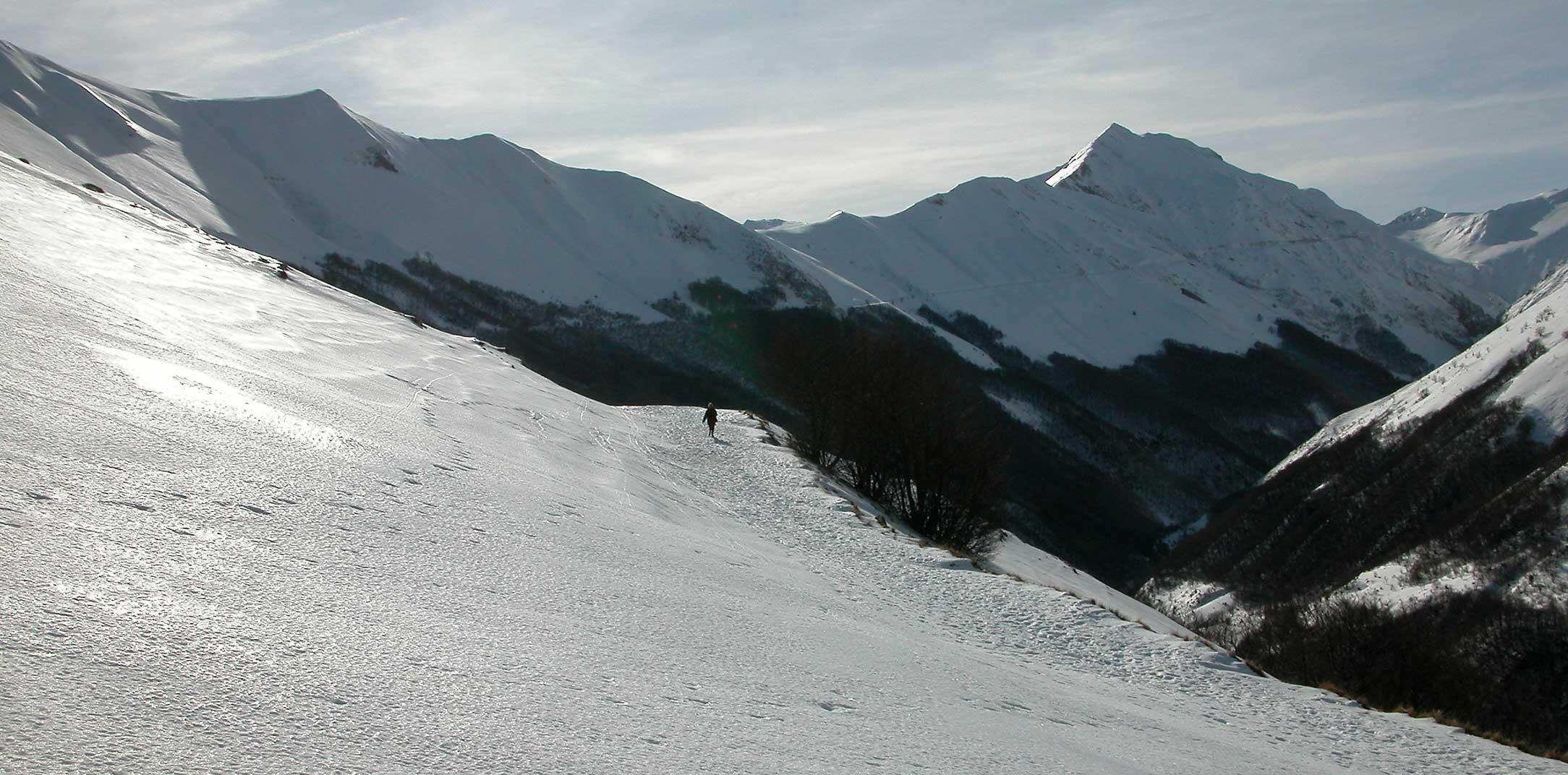 Le montagne in inverno